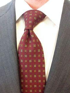 Sam Hober Tie: Dark Red Pattern Challis Wool Tie 3 http://www.samhober.com/macclesfield-challis-patterned-wool-ties/
