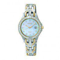 Seiko Solar Ladies Mixed Metal Bracelet Watch