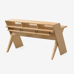 Platform is a modern, thoughtfully designed desk for your studio space. Home Studio Desk, Studio Table, Studio Furniture, Home Desk, Music Desk, Desk Inspiration, Simple Desk, News Studio, Picnic Table