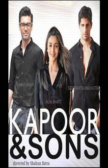 Image Result For Kapoor And Sons Poster Hindi Movies 2016 Kapoor And Sons Indian