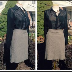 Tweed Pencil Skirt A fall and winter essential! This is a classic black and cream pencil skirt with hints of neutral tones. NWT. (Skirt is clipped in back on mannequin; has a straight pencil shape but appears somewhat of an a-line due to clip in back.) Priced for quick sell and happy to negotiate lower value when included in bundles of $15+. TRADE GAP Skirts Pencil