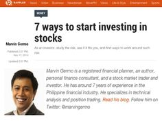 Rappler Column – 7 ways to start investing in stocks Investing In Stocks, Business Video, Investors, Stock Market, Study, Studio, Studying, Research