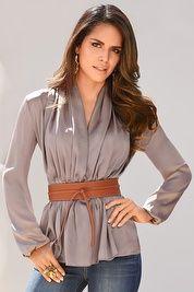 Sensuous drape blouse