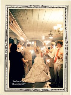 I like the softness, plus sparklers would be fun for a reception