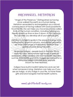 Printed on laminated, linen card stock. You get an Archangel cards included with our Archangel crystal bracelets, or they're available as a set of seventeen cards! Metatron Archangel, Archangel Gabriel, Archangel Prayers, Angel Guidance, My Guardian Angel, Ascended Masters, Angel Numbers, Angel Cards, Spirituality