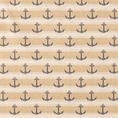 Taupe & Navy Anchor Stripe Apparel Fabric