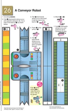 Worksheets: Cut and Craft a Conveyor Robot!