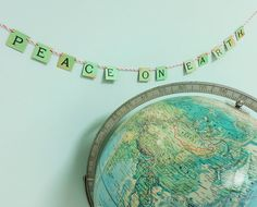 Hang this Peace on Earth message banner wherever you want a spot of holiday cheer and whimsy…