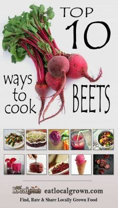 "Top 10 Ways to cook Beets.great find b/c I am clueless about these things! lol ""Beets are an extremely nutritious food source for your family. They also happen to be really tasty and delicious. Heres our Top 10 Beet Recipes. Vegetable Recipes, Vegetarian Recipes, Healthy Recipes, Recipes For Beets, Delicious Recipes, Beetroot Recipes, Easy Recipes, Yummy Food, Whole Food Recipes"