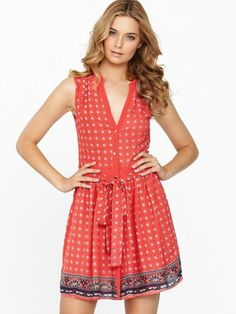 Oasis Foulard Drop Waist Shirt Dress