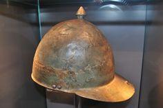 Roman helmet  Legionary helmet, bronze, 1st half-mid-1st century AD, Colonia Ulpia Traiana (Xanten, 2010)