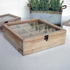 Antique Washed Wooden Tea Box