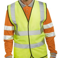 B Seen High Visibility Vest saturn yellow