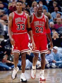 Scottie Pippen and Michael Jordan on the Chicago Bulls Basketball Jones, Basketball Is Life, Basketball Pictures, Basketball Legends, Sports Basketball, Basketball Players, Basketball Tickets, Sports Teams, Michael Jordan Chicago Bulls