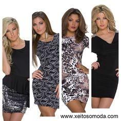 Vestidos economicos para salir de marcha, fiesta, copas. Compra en España moda mujer www.xeitosomoda.com