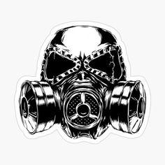 Illustration of engrave isolated gas mask vector illustration sketch. linear art vector art, clipart and stock vectors. Gas Mask Drawing, Gas Mask Art, Masks Art, Gas Masks, Skull Stencil, Skull Art, Skull Tattoos, Sleeve Tattoos, Tattoo Mascara