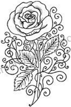 Picture of Stic On Remountable Stamp Rose