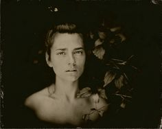 """8x10"""" Clear Glass Wet Plate Collodion Ambrotype, by Angie Brockey, 2015"""