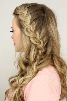 How to DIY Butterfly Braid Hairstyle   Beauty   Pinterest     20   Prom Frisur Ideen