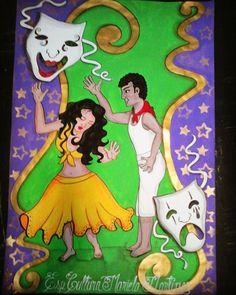 Afiche: Tambor y Teatro. #misdibujos #mitrabajo #bailedetambor #teatro #cultura #Curiepe #Barlovento
