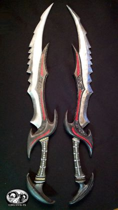 Skyrim Daedric Schwert Videospiel Kostüm Prop Waffe EVA Foam Build … – Nilton Cesar – Join the world of pin Cosplay Weapons, Ninja Weapons, Skyrim Cosplay, Cosplay Armor, Pretty Knives, Cool Knives, Swords And Daggers, Knives And Swords, Video Game Costumes