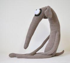 Plush greyhound dog willy the whippet handmade by sausagedog
