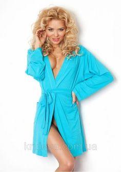 Женский вискозный халат Ines blue