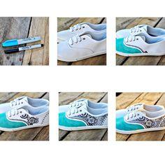 Tutorial :: DIY Sharpie Doodle Shoes   Dandelion Drift