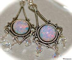 Pink Fire Opal Earrings
