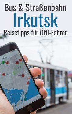 Irkutsk: Straßenbahn, Bus, O-Bus und Marschrutka: Reisetipps für öffentliche Verkehrsmittel. Die Fahrt  ist für Westeuropäer hier in Sibirien etwas gewöhnungsbedürftig, aber z.B. für Transsib-Reisende sehr praktisch. Tipps für Öffis auch für die Anreise zum Baikalsee und im Stadtzentrum mit der Tram Irkutsk. #transsibirien Places To Go, Things To Do, Europe, Phone Cases, Adventure, Kids, Ukraine, Traveling, Bucket