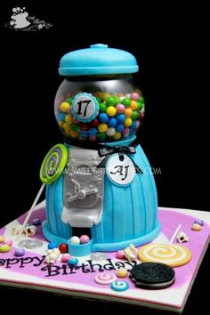 Bubble Gum Machine Cake
