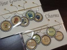 Harry Potter Wine Charms - House Crest and Spell Bottle Cap Wine Charms set of 10