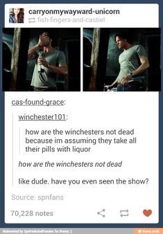 The Winchesters have died countless times. Like at least once a season. Maybe more