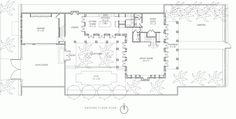 Croom Construction, Co. - Plan A Golf Estate, Real Estate, Windsor Florida, New Urbanism, Courtyard House Plans, Elevation Plan, Ground Floor Plan, Waterfront Property, Vero Beach