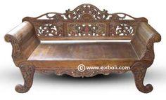 Carved knockdown Daybed /  Sofa