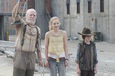 emily kinney walking dead | The Walking Dead: Scott Wilson, Emily Kinney e Chandler Riggs nell ...