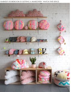 Colourful print pillows - Harvest Textiles