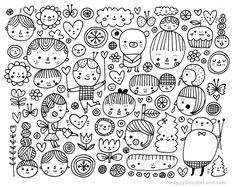 Faces Doodle