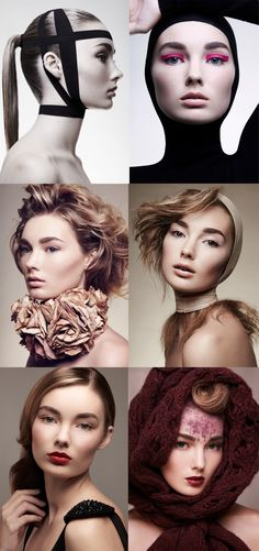 Earthy tones, neck brace, flowers, classical couture