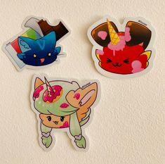 Creative Wall Art With YooniqueStickers Cute Animal Drawings, Kawaii Drawings, Disney Drawings, Cute Drawings, Creature Drawings, Creative Walls, Kawaii Art, Cute Stickers, Furry Art