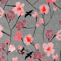 Stretch jersey m digitalt blomster print