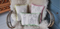 Decorative cushions with your child's drawing