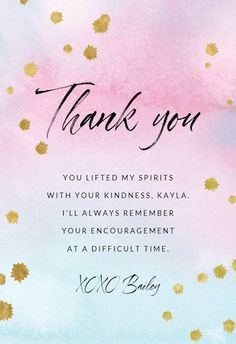 Watercolor Pastel Paper - Thank You Card #greetingcards #printable #diy #thankyou #notes #thanks Thank You Notes, Thank You Cards, Pastel Paper, Always Remember You, Thank You Card Template, Encouragement, Greeting Cards, Printable, Messages