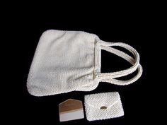 Corde-Bead Lumured Purse Bag with Coin Bag by WhyWeLoveThePast