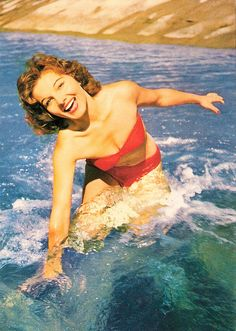 The water's great, come on in! 1950s