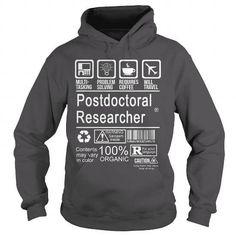 POSTDOCTORAL RESEARCHER - CERTIFIED JOB TITLE T-Shirts & Hoodies