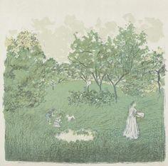 The Orchard (Le verger) from the album Germinal, 1901, Pierre Bonnard, Van Gogh Museum, Amsterdam (Vincent van Gogh Foundation)