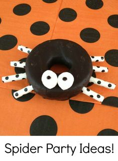 Cute ideas for a spider themed party or play date.  Perfect for preschoolers!
