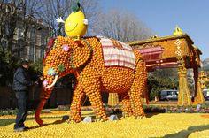 Este elefante hace parte de otra de las esculturas inspiradas en India