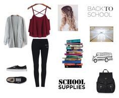 """""""First Day of High School"""" by love-nikki ❤ liked on Polyvore featuring Vans, Accessorize and 7 For All Mankind"""